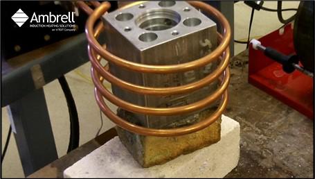 Induction Curing Aluminum Block