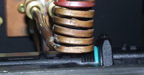 Reflowing solder with induction heating