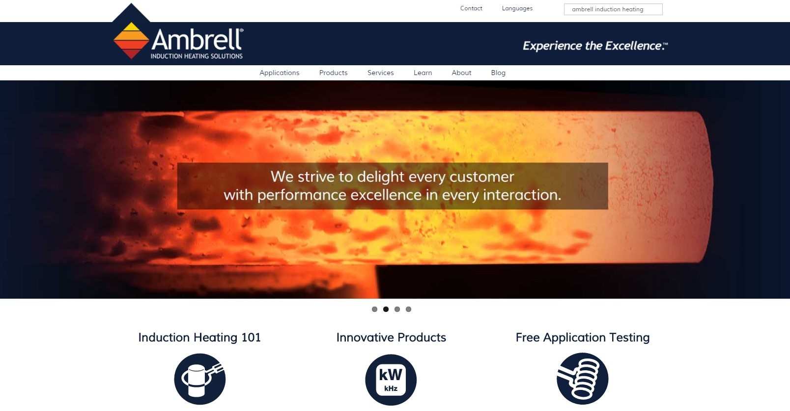 Image of the New Ambrell Website