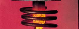 using induction heating in material testing