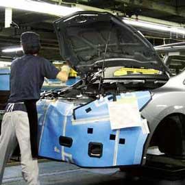 Production automobile