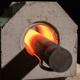 Forging with induction heating