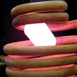 fusión levitatión con calentamiento por inducción