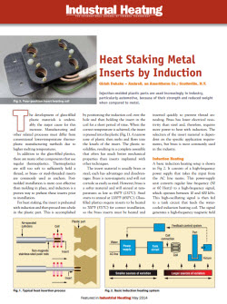 Heat Staking Metal Inserts by Induction