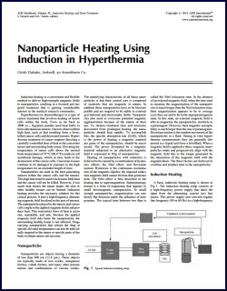 nanoparticle heating article