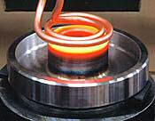induction heats a roller hub