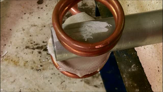 Shrink Fitting an Aluminum Tube with Induction Heating