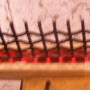Annealing the end of steel wire on a woven wire mesh