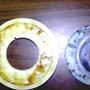 De-bonding urethane from a steel insert (doffer pad)