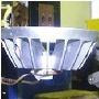 Soldering an LED assembly to an aluminum spotlight housing