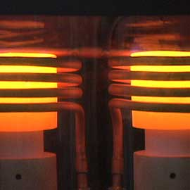 atmospheric brazing with induction heating